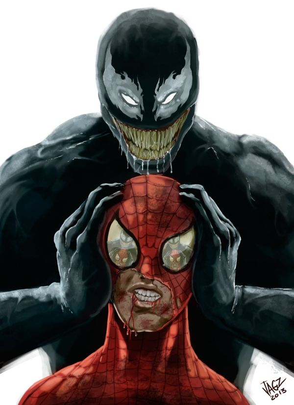 Spiderman & Venom by JAGZ