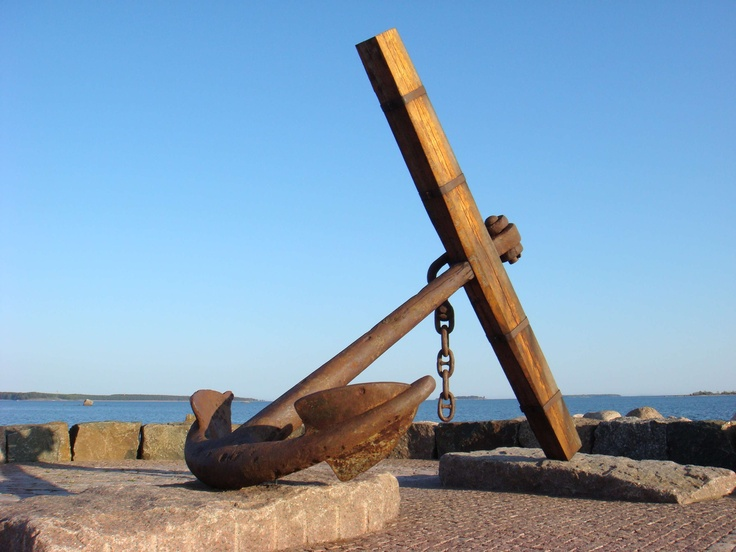 An old anchor in Meripuisto