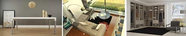 Unión de los dos estilos en una misma colección    Cuatros  líneas para una misma propuesta. Vestidores, placards, muebles, juegos de living o dormitorio, módulos y mesas, elaborados en diferentes materiales con lo último en diseño para cada tipo de casa.