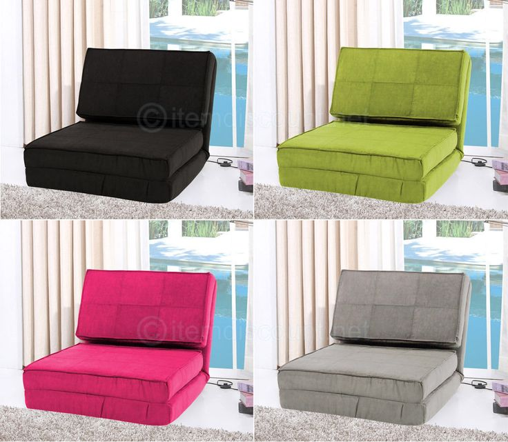 Flip Out Lounge Futon Chair Folding Chaise Game Convertible Sleeper Bed Dorm Kid #Unbranded #Contemporary