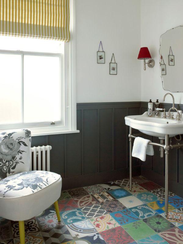 Stunning Transformation Of A Semi Detached Victorian House Tile Bathroom Floorstiled