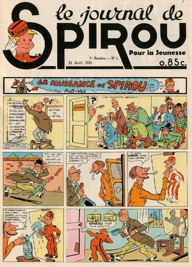 Journal de Spirou N°1 - 21 avril 1938 http://jpdubs.hautetfort.com/archive/2012/01/02/dates-cles-de-la-bd.html