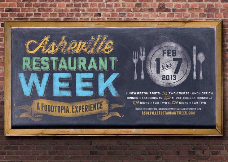 Now you can enjoy our tastiest cuisine during the inaugural Asheville Restaurant Week, taking place February 1-7, 2013. Participating restaurants will offer a prix fixe menu starting at $15 per person. #asheville #avleat