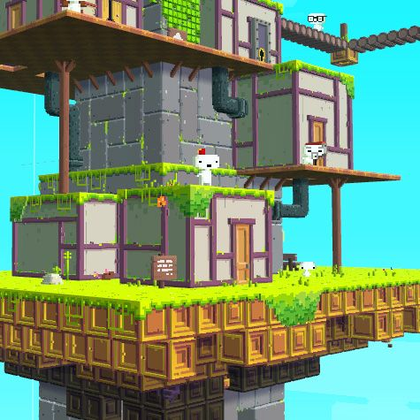 Fez: Stylish, rotation based puzzle platformer and the most well known unreleased indie game ever.