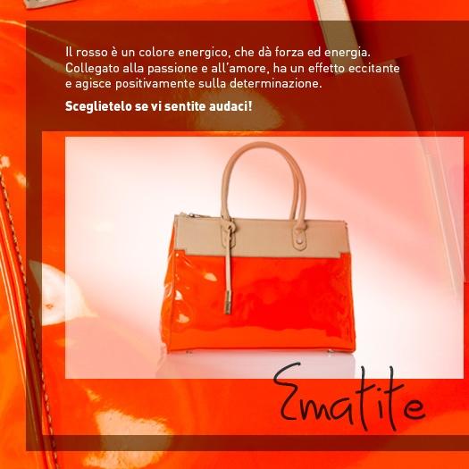 Una borsa rossa...per chi ama osare! http://www.caleidostore.it/it/borse-medie/62-ematite-handbag.html