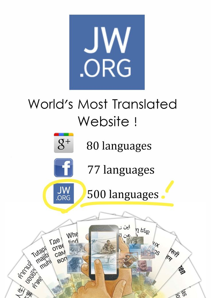 The most recent website of Jehovah's Witnesses (Jehovah's Witnesses—Official Website: jw.org) has been translated into more than 600 languages. It is my understanding that this is vastly greater than any other website in the world.