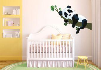 Stickers muraux sticker mural panda dormeur chambre for Stickers panda chambre bebe