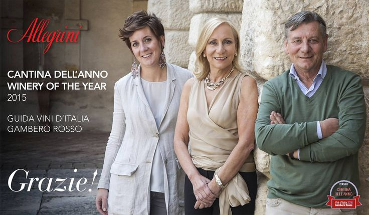 Allegrini is VERY proud to have been named Winery of the Year by Gambero Rosso! Grazie, #Allegrini winery