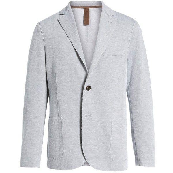 Men's Eleventy Trim Fit Jersey Blazer (33.590 RUB) ❤ liked on Polyvore featuring men's fashion, men's clothing, men's sportcoats, grey, mens gray blazer, men's sportcoats and blazers, mens grey blazer, mens slim fit blazers and eleventy men's clothing