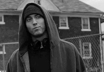 My middle finger won't go down… how do I wave? - Eminem