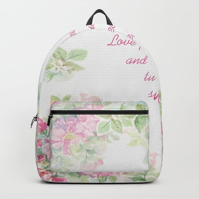 87bedff9fcc5 Buy Love planted a rose Backpack by canisart. Worldwide shipping ...