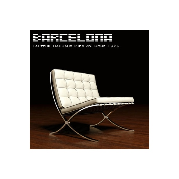 fauteuil bauhaus barcelona mies van der rohe 1929 for the home wall pinterest lounges. Black Bedroom Furniture Sets. Home Design Ideas