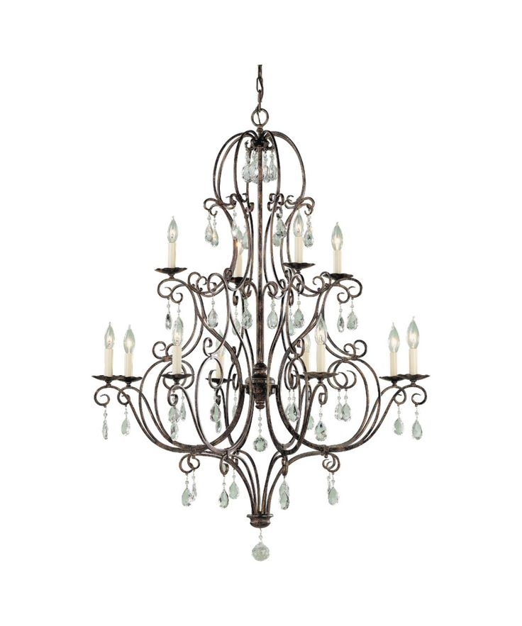 murray feiss chateau 36 inch wide 12 light chandelier bronze finishhome