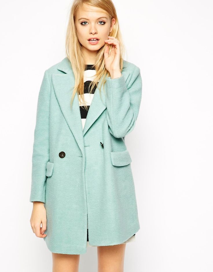 ASOS Coat With Cocoon Fit In Textured Wool