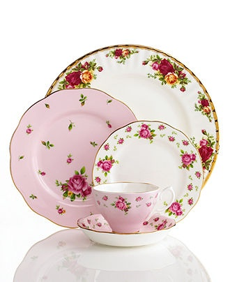 Royal Albert Dinnerware, Old Country Roses Mix and Match - Fine China - Dining & Entertaining - Macy's {mismatched china! ahh, gimme!}