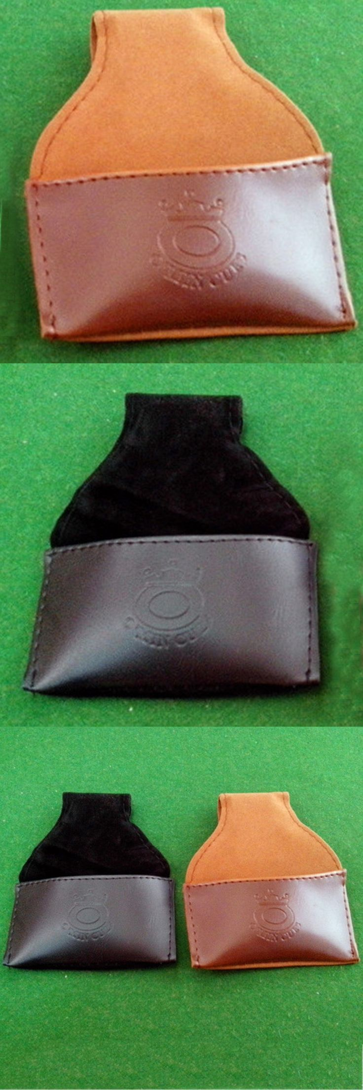 Synthetic Leather PU Snooker Billiard Chalk Holder Pouch Bag with Clip Pool Billiards Accessories