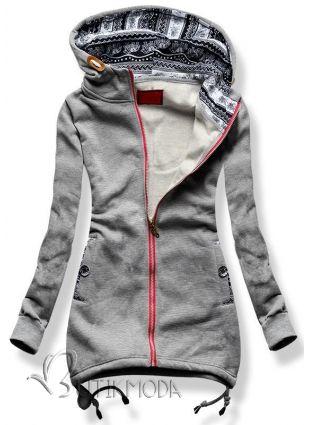 Sweatjacke hell grau D201 - Damenbekleidung