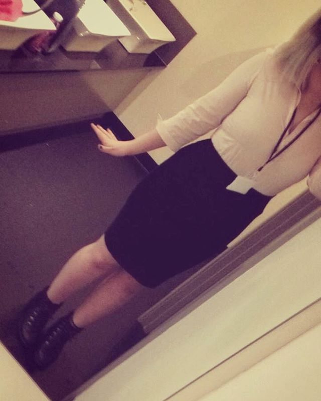 WEBSTA @ is_man_a_goff - Here is a work birthday selfie that does not have my face in cos today was hectic and I looked like shit ... Cute outfit doe #work #selfie #busy #outfit #workclothes #mirror #likeforike #alternative #cute
