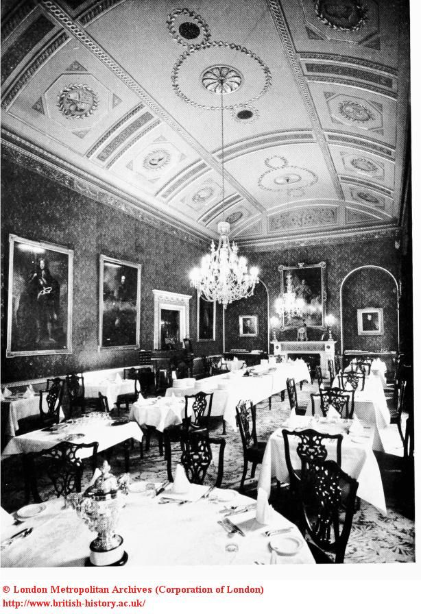 Interior: Coffee-room at White's Club, St. James's Street