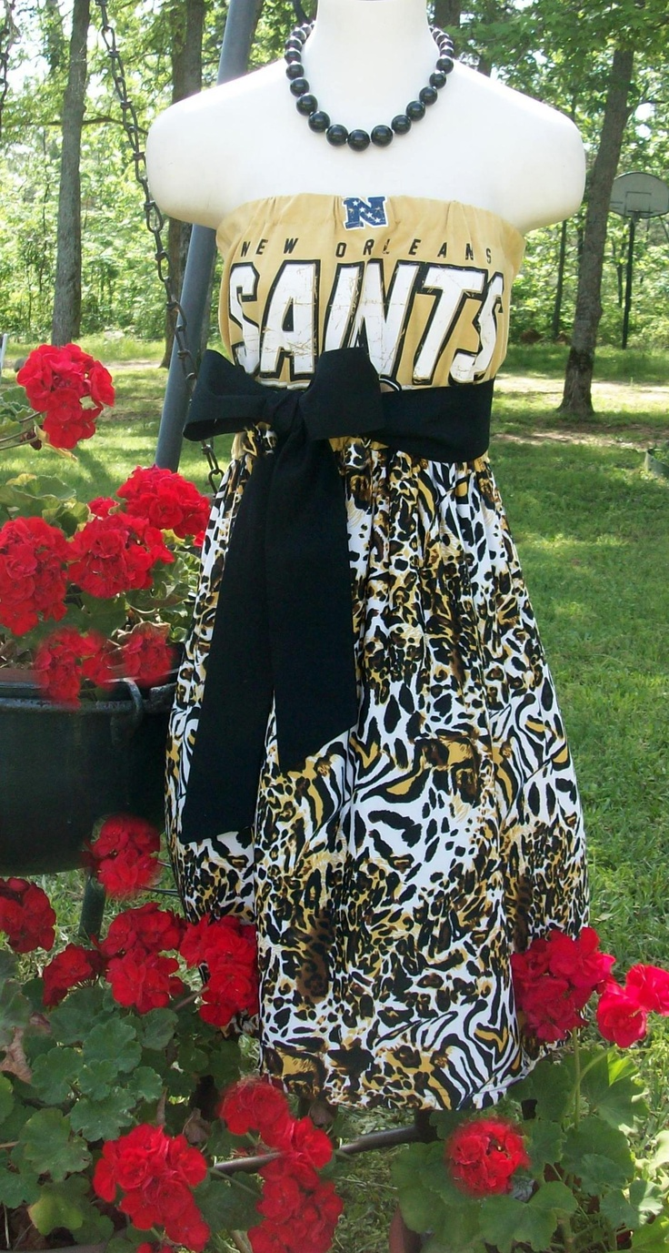 New Orleans Saints Game Day Dress $55