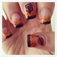sf giants nail designs - Google Search