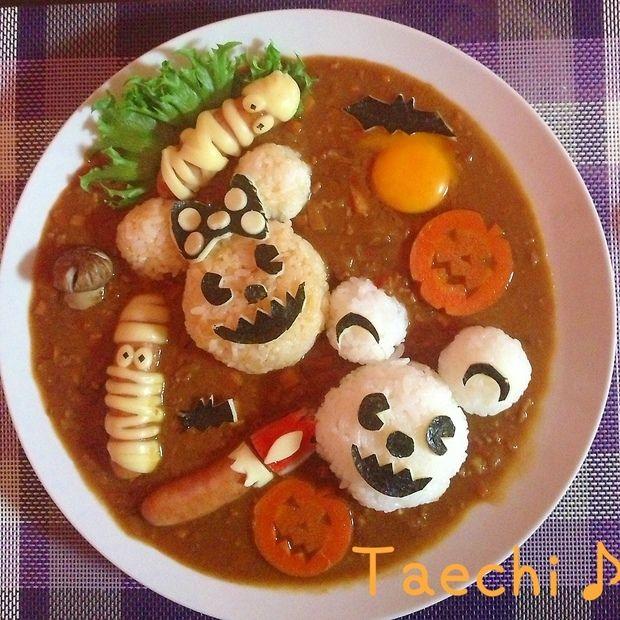 curry ディズニーハロウィン祭り  カレー