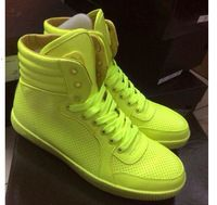 2015 nieuwe echt leder Hoge Top Sneakers Candy Kleur recreatie ...