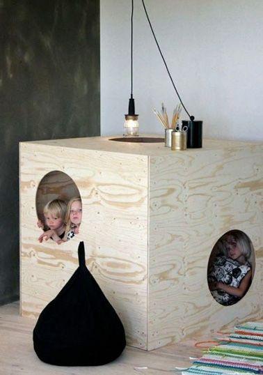 Petite cabane pour enfant à fabriquer pour la salle de jeux