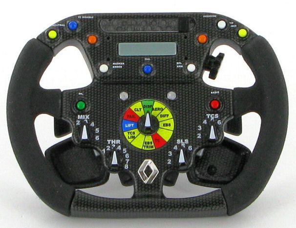 F1 steering wheel controls renault f1 r26 steering wheel for Benetton 4 wheel steering