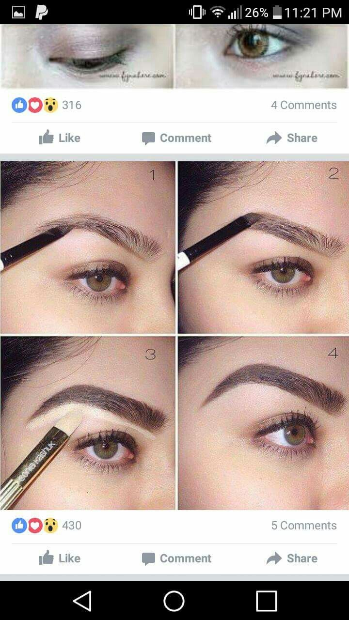 101 best images on pinterest faces korean makeup and how to build a bold brow by thank you carolina great job using dipbrow in dark brown you can also use this technique with brow wiz to outline baditri Images