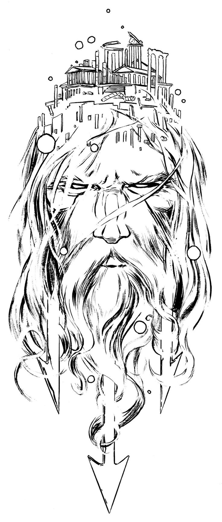poseidon head by jamesjfrazier.deviantart.com on @deviantART
