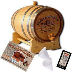 Personalized American Oak Aging Barrel – Design 063: Barrel Aged Whiskey (2 Liter), Top gifts for men