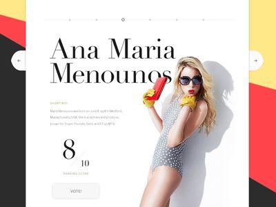 Fashion website slider