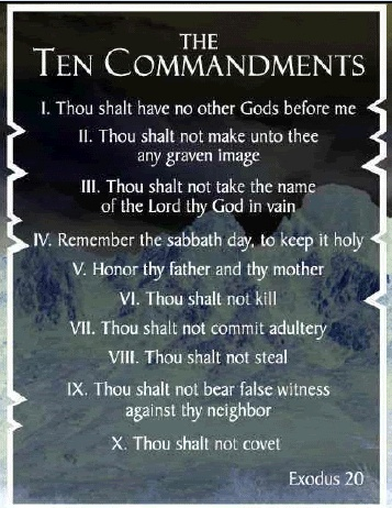 What book of the bible is the ten commandments in