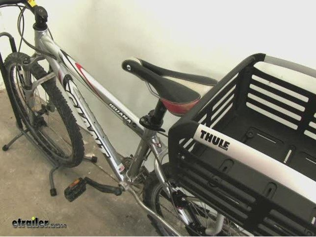 Thule Pack 'n Pedal Basket for Bike Racks - 33 lbs - Black Thule Bike Accessories TH100050
