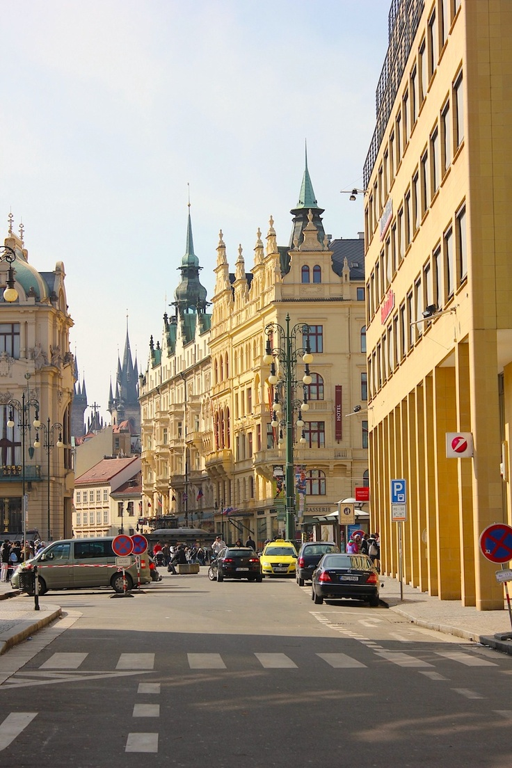 March 17, 2013. We arrive to Prague's old town (Stare Mesto) to stay at the well reknowned Boscolo.  www.traveladept.com
