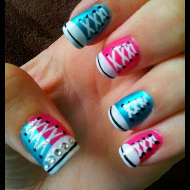 best 20 converse nails ideas on pinterest converse nail