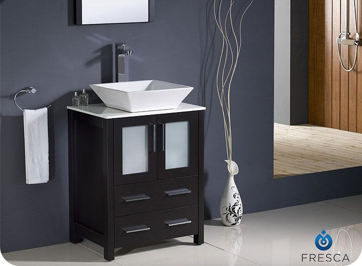 Photo Album For Website Fresca Torino Inch Espresso Modern Bathroom Vanity With Vessel Sink Home Depot Canada
