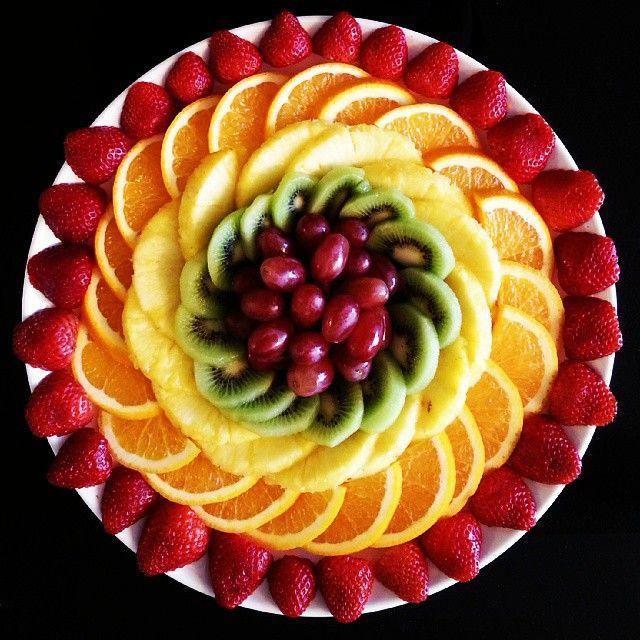 Obstteller für das heutige Beisammensein. Schöne…