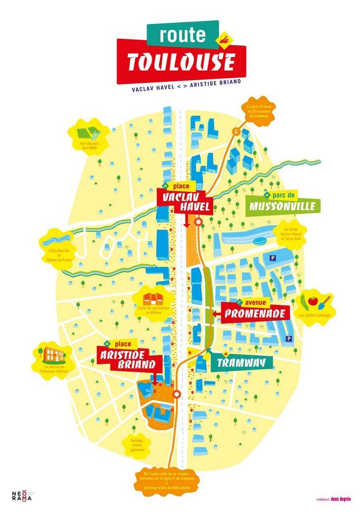 Carte ZAC route de Toulouse à Bordeaux - Deux Degrés (la FAB)
