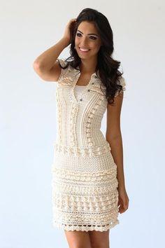 1000  ideas about White Crochet Dresses on Pinterest  Crochet ...