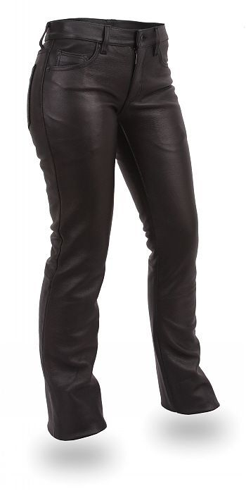 Womens 5 Pocket Leather Jean - Rocky Top Leather