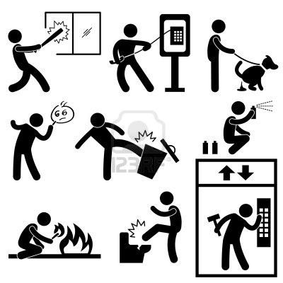 Bad Moraal Mensen Vandalisme Gangster Icoon symbool teken Pictogram Stockfoto