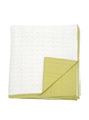 Darzzi Leaf Quilt (Off White/Green)