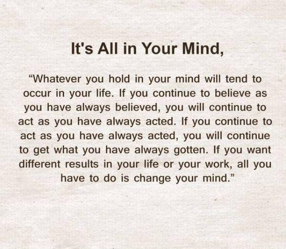 Its All In Mind Misc Genius Quotes Einstein Quotes
