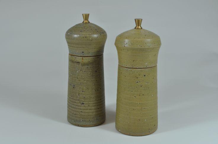Salt and pepper mills - stoneware
