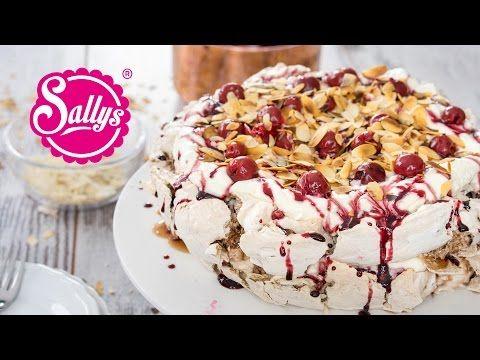 Pavlova-Torte auf Schwarzwälder Kirsch Art / Meringue Torte - YouTube