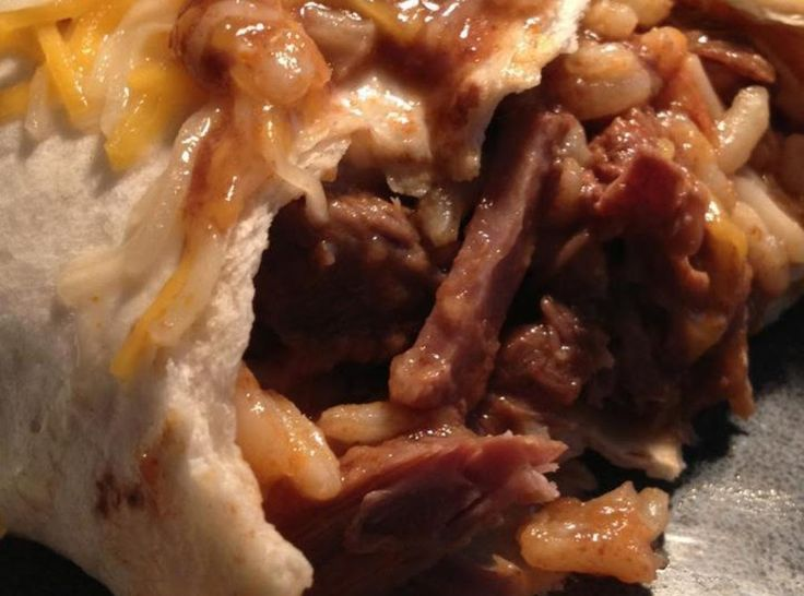 Smothered Beef Burritos (crockpot)