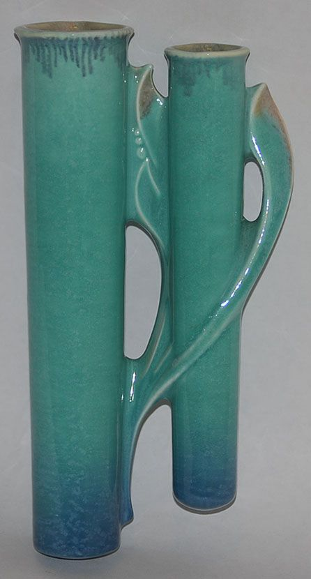 Roseville Pottery Orian Turquoise Wall Pocket