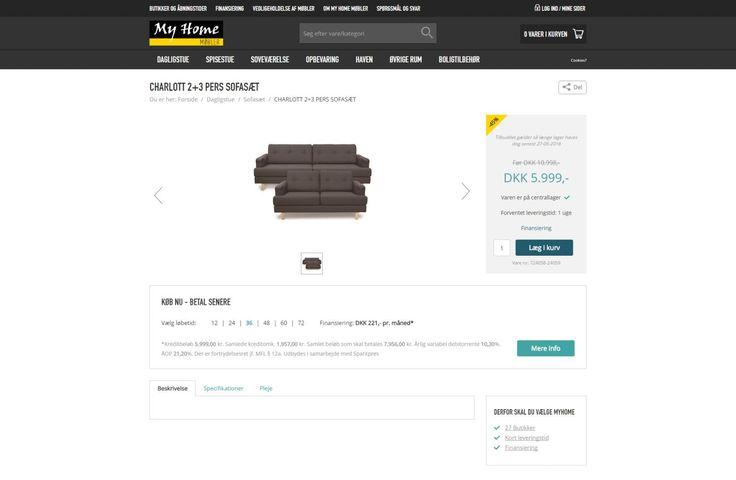 Billige sofasæt og sofagrupper fra MyHome